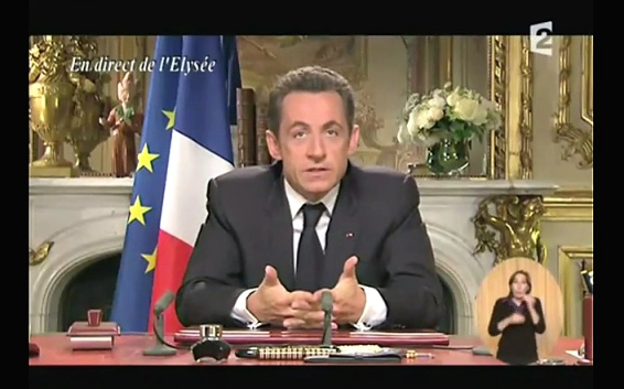 Nicolas Sarkozy 2012 Discours de Candidature Imaginaire - Capture