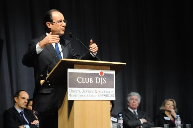 François Hollande au Club Droit, Justice et Sécurités - © Razak