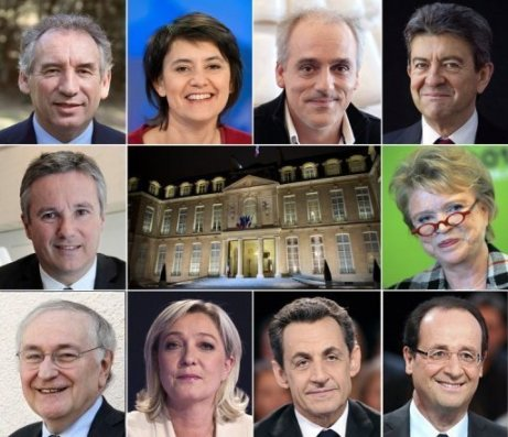 10 candidats pour la présidentielle de 2012