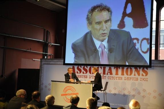 François Bayrou, le 10 mars 2012 face aux associations - cc depuis1901