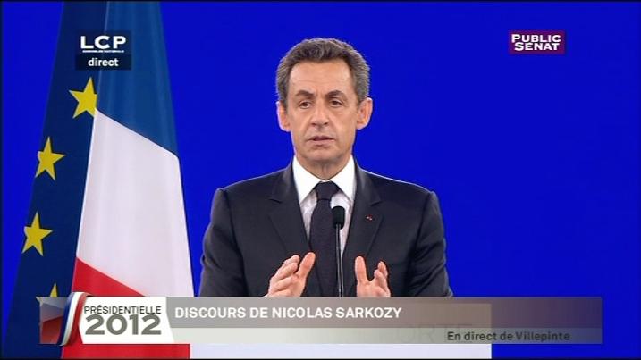 Nicolas Sarkozy à Villepinte, dimanche 11 mars 2012.