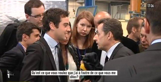 Nicolas Sarkozy s'énerve encore contre un journaliste - capture Salam93
