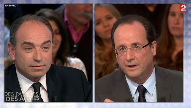 Duel Copé - Hollande sur France 2 - capture Ze Rédac