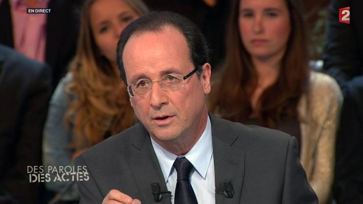 François Hollande à Des Paroles et Des Actes - capture Ze Rédac