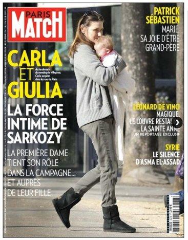Une de Match avec Carla et Giulia