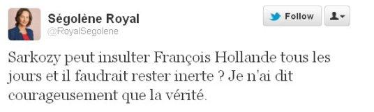 Ségolène Royal poursuit son offensive sur Twitter