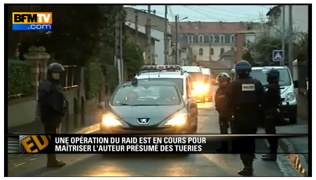 Intervention du RAID pour l'arrestation de l'assassin de Toulouse - Capture BFMTV