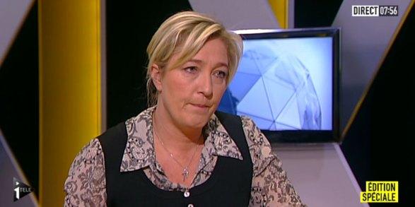 Marine Le Pen sur iTele alors que l'arrestation du tueur de Toulouse est en cours