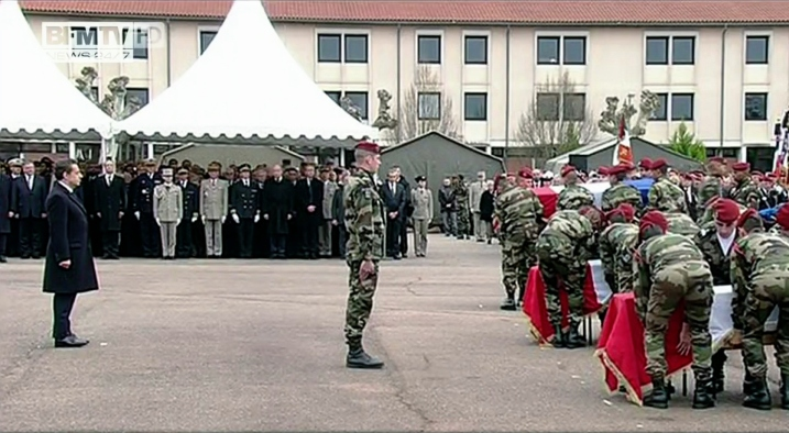 Hommage rendu par la Nation aux soldats assassinés à Montauban - capture BFM