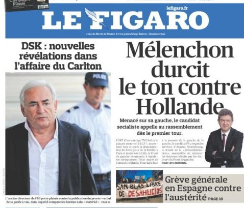 Le Figaro du 29 Mars 2012