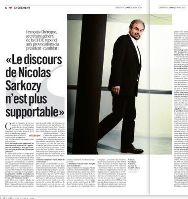 Interview de Chérèque à Libération