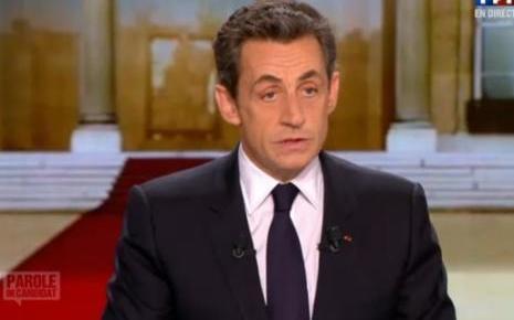 Sarkozy sur le plateau de Parole de Candidat, TF1
