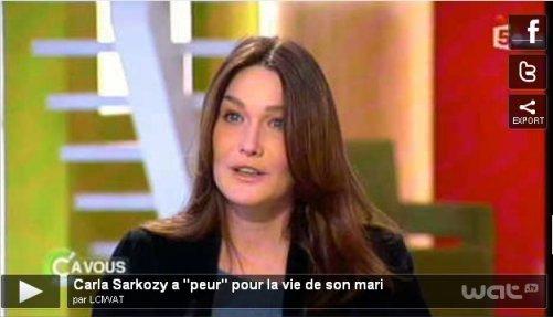 Carla Bruni-Sarkozy dans C à Vous