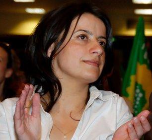 Cécile Duflot au congrès des verts en 2007 - photo cc Marie-Lan Nguyen