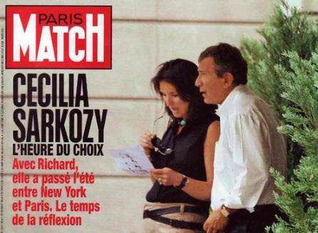 Cécilia Sarkozy et Richard Attias en Une de Paris Match