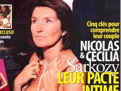 Cécilia et Nicolas dans Paris Match