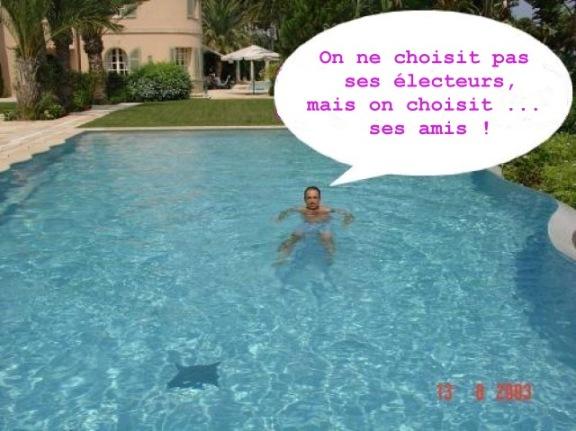 JF Copé dans la piscine de son ami Zied Takieddine