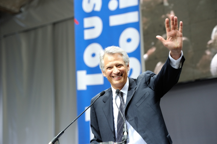 Dominique de Villepin lors du lancement de République Solidaire, 2010 - © Razak