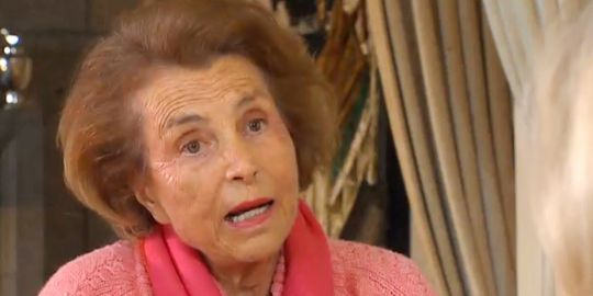 Liliane Bettencourt lors d'un entretien télévisé sur TF1 - capture.