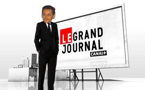 Sarkozy au Grand Journal - Montage LePost