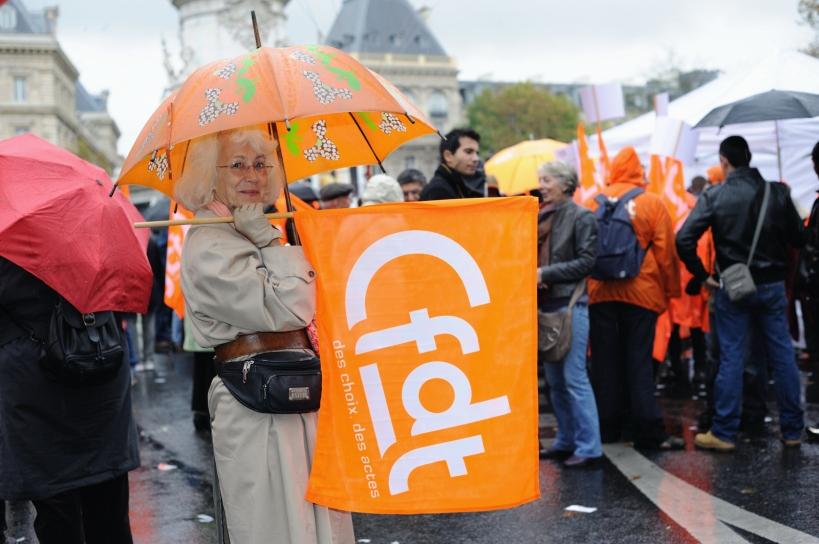 Défilé syndical lors des manifs contre la réforme des retraites - © Razak
