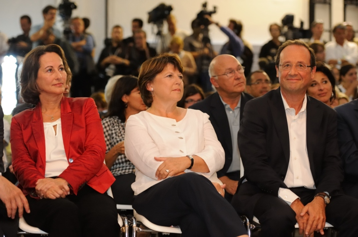 Ségolène Royal, Martine Aubry et François Hollande en Août 2011 à La Rochelle -  © Razak