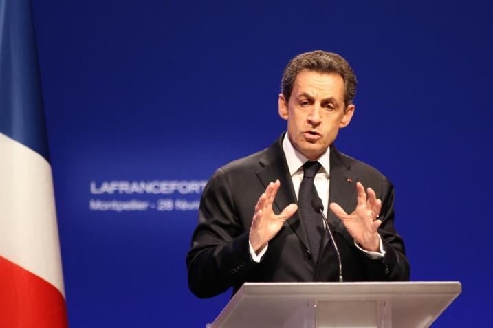 Nicolas Sarkozy à Montpellier le 28 février 2012- cc UMP Photos