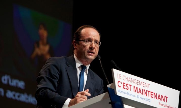 François Hollande à Mont de Marsan le 29 mars - cc Aude Guerrucci