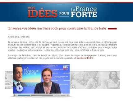 Sarkozy : Vos Idées pour La France Forte