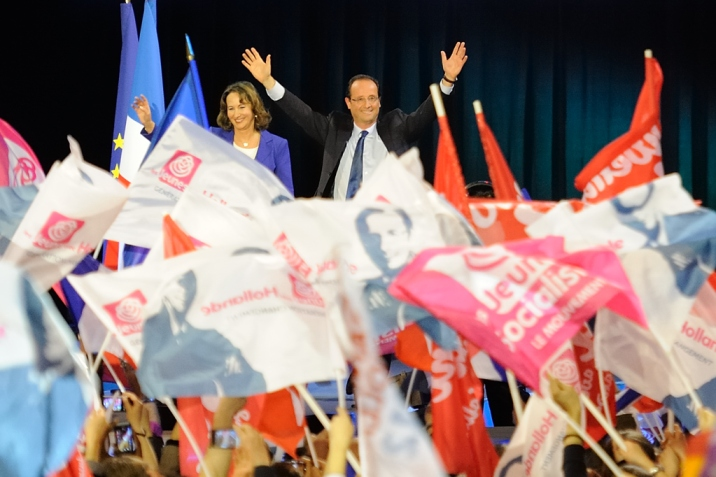 Royal et Hollande, ensemble à Rennes - © Razak
