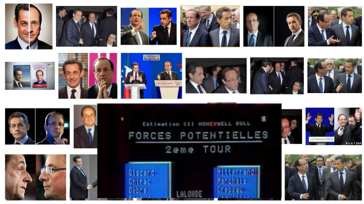 Sarkozy-Hollande : au soir du premier tour, bataille de com' décisive ! - Montage Ze Rédac