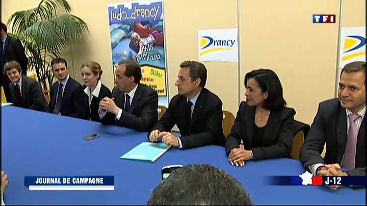 Nicolas Sarkozy en visite non annoncée à Drancy, Seine-St-Denis