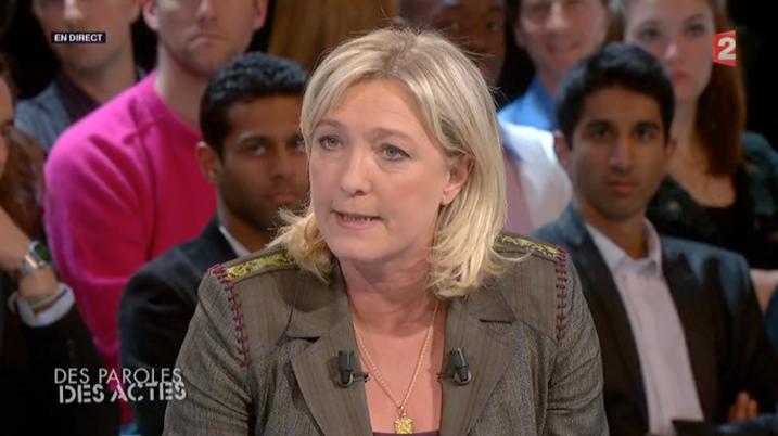 Marine Le Pen à DPDA le 11 avril 2012 - capture Salam93