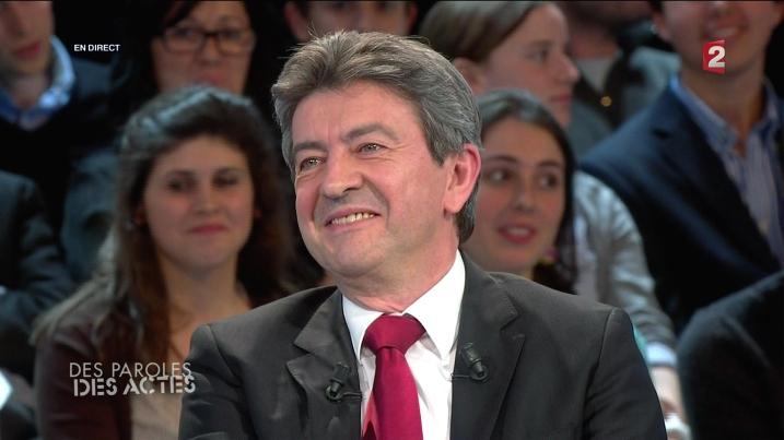 JL Mélenchon lors de Des Paroles et Des Actes - capture ZeRédac