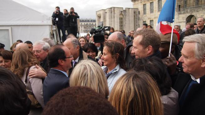 François Hollande salue Ségolène Royal à Vincennes - © Rémi