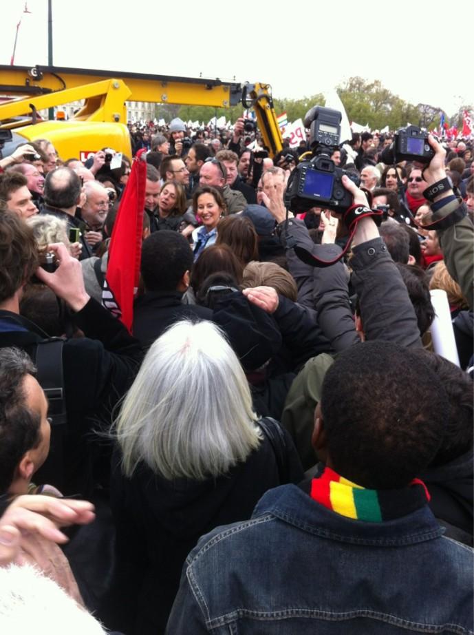 """Émeute autour de Royal à Vincennes : """"Ségolène merci !"""" par Thomas Wieder"""