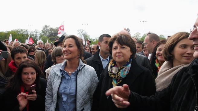 Ségolène Royal et Martine Aubry ensemble à Vincennes - © Rémi