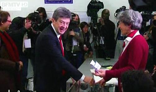 Jean-Luc Mélenchon a voté à Paris