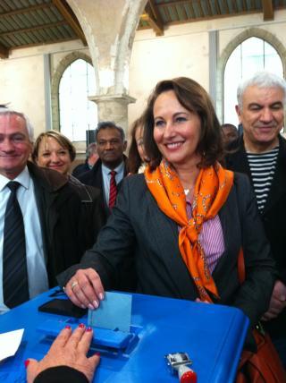 A voté ! Ségolène Royal salle de l'Oratoire à La Rochelle - photo Valérie