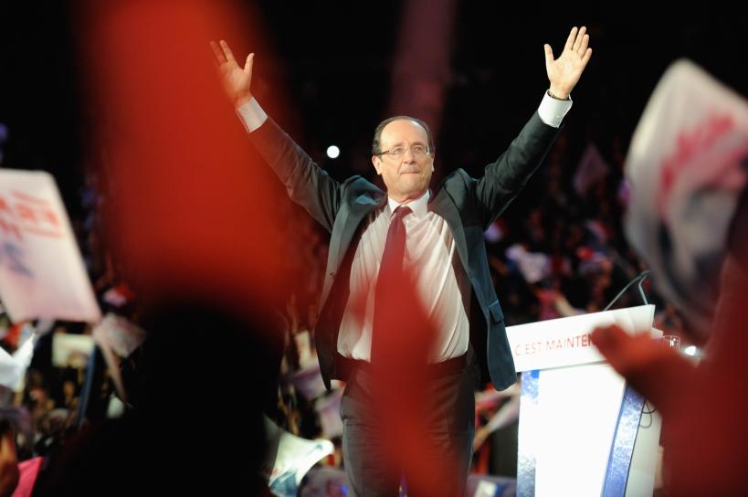 François Hollande hier à Bercy peu avant le rappel - © Razak