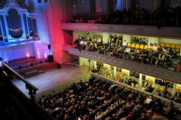 Salle Gaveau avant le spectacle électoral éphémère de Marc Jolivet - © Razak