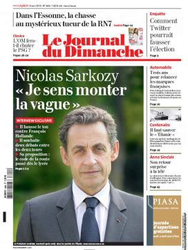 "JDD : Sarkozy ""Je sens monter la vague"""