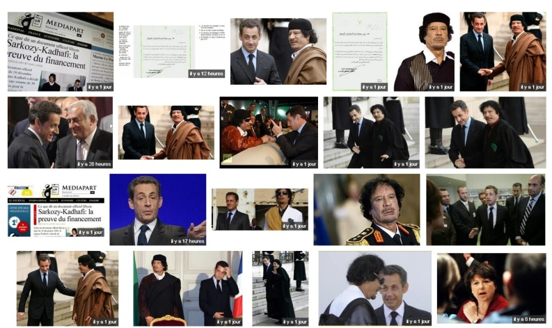 Kadhafi - DSK vu par Google Images