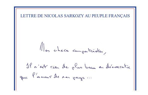 La Lettre de Nicolas Sarkozy au peuple français