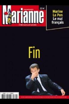 Une de Marianne : Sarkozy Fin