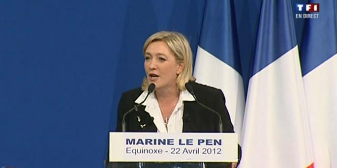 Discours de Marine Le Pen après les résultats du 1er tour - capture LabEurope1
