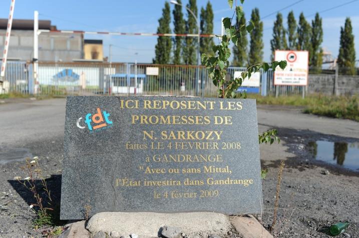 Gandrange : les promesses et le résultat de Nicolas Sarkozy - © Razak
