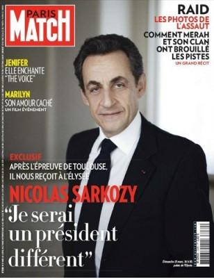 """Sarkozy en Une de Paris Match : """"je serais un président différent"""""""