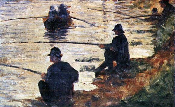Seurat - les pêcheurs à la ligne (etude pour la Grande Jatte)