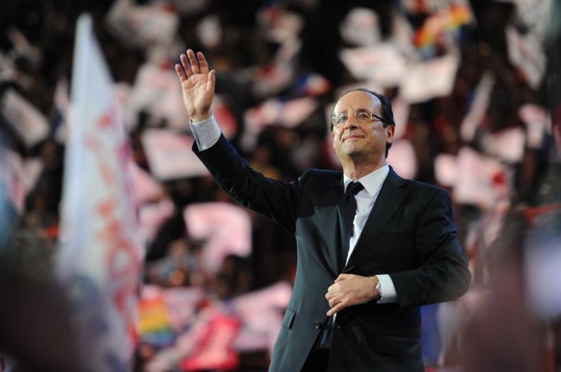 """François Hollande à Bercy peu avant le """"rappel"""" - © Razak"""